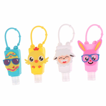 30ml Cute Cartoon Animal Shape Silicone Hand Sanitizer Disposable Travel Portable box for birthday party gift Christmas deco