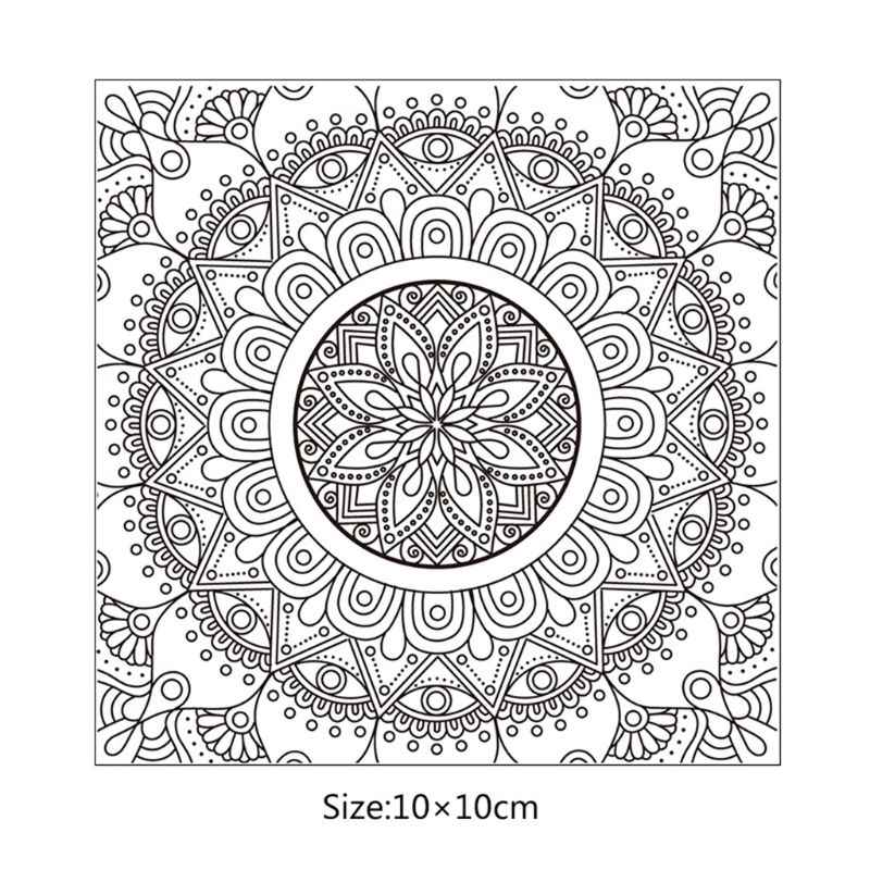 Mandala DIY Silicone Clear Stamp Cling Seal Scrapbook Embossing Album Decor E65B
