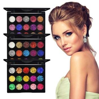 15 Color Diamond Sequins Eyeshadow Glitter Powder High-gloss Eye Shadow Sequins Glitter Loose Shimmer Eye Shadow Makeup TSLM1 2