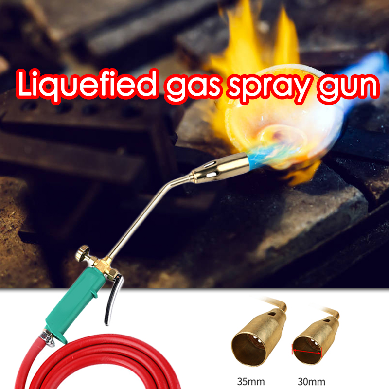 Liquefied Gas Welding Torch Road Pipe Metal Welding Flame Blow Heating  Plumber Roofing Ignition Soldering Gas Blowtorch