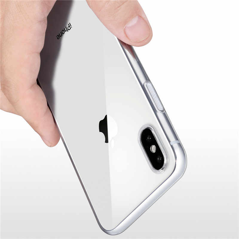 Ultra Thin Clear Silicone Telefoon Case Voor Iphone 11 Pro Max X Xr Xs Max 6 6S 8 7 plus 5 5S Case Transparante Bescherming Back Cover