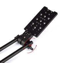 360 학위 회전 15mm로드 클램프 마운트 치즈 플레이트 fr 짐벌 전원 V 마운트 배터리 카메라 레일 시스템 삼각대 지원