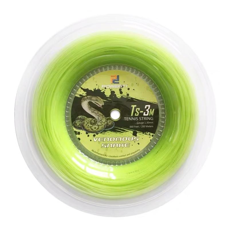 Powerti Tennis String 200m Reels Mono Snake Soft Nylon Tennis Ball String 1.30mm Gym Lights Net Men