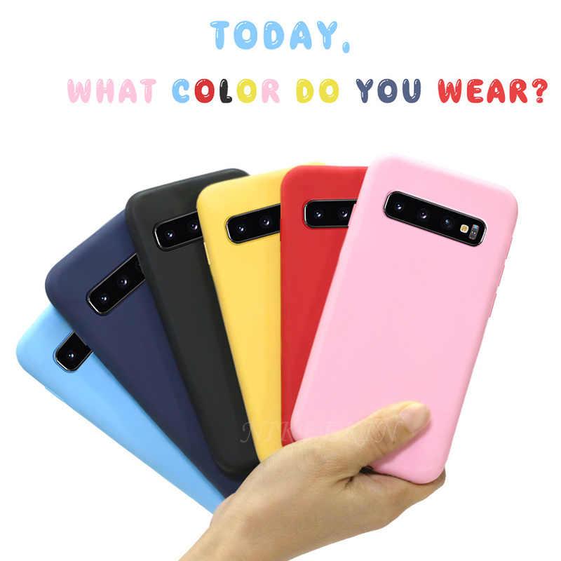 الحلوى الهاتف حقيبة لهاتف سامسونج ملاحظة 10 لايت S20 زائد S10 لايت S10E M60S M80S غطاء من السيليكون على غالاكسي A51 A71 A91 A81 A01 A21 غطاء