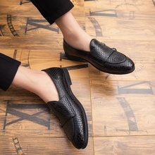 Casual Shoes Men PU Leather Oxford Loafers Breathable Flats Sapatos Masculino Soft-Soled Chaussure Homme