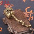 Античная бронзовая лягушка для матери и ребенка, маленькое украшение Лотос дзен, миниатюрные фигурки животных из чистой меди, аксессуары дл...