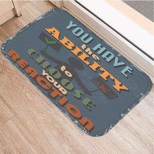 Image 3 - Нескользящий декоративный коврик в британском стиле, ковер для кухни, пола, гостиной, домашний Мягкий Нескользящий дверной коврик 40x60 см