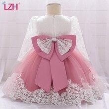 LZH Infant Dress 2021 Fashion Autumn Winter Printed Dress For Baby Girls Wedding Birthday Party Dress Newborn Clothes 1 2 Years