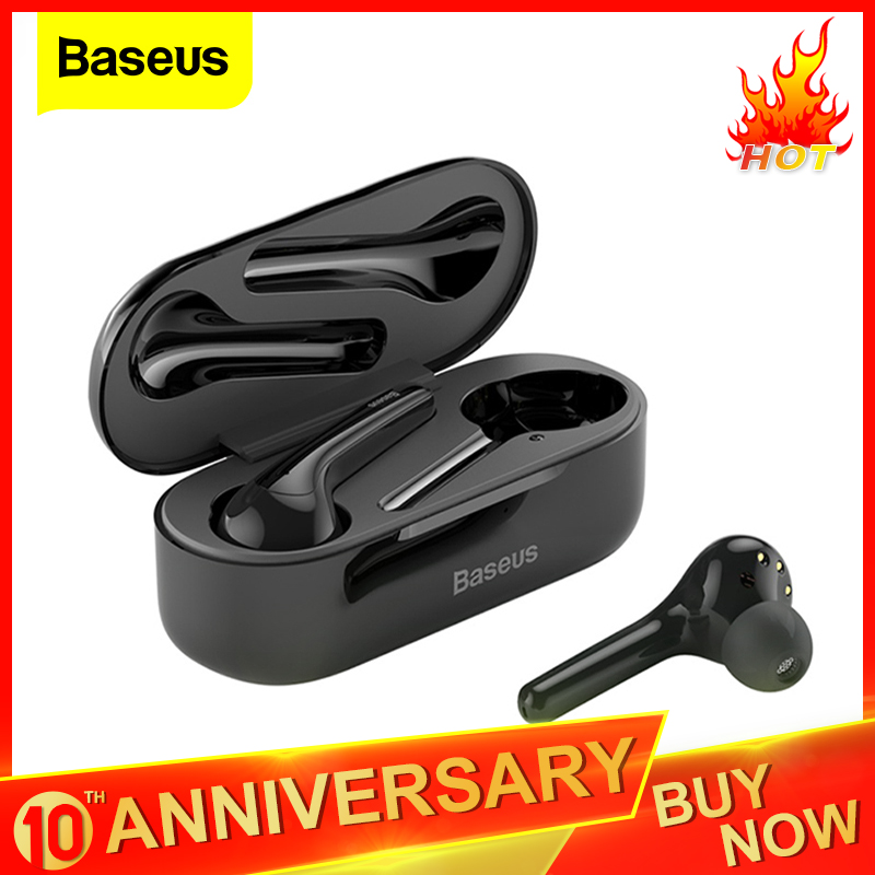 Baseus W07 TWS <font><b>Bluetooth</b></font> Earphone Stereo True Wireless Earbuds Sports Noise Reduction Headset <font><b>Bluetooth</b></font> <font><b>5.0</b></font> <font><b>Headphones</b></font> with Mic image