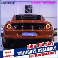 Luz LED trasera completa para coche Ford Mustang GT, luces traseras DRL, señal de giro, freno, luz de marcha atrás, 2015-2019