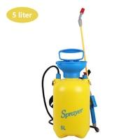 5L Garden Knapsack Sprayer Pump Action Pressure Sprayer With Pressure Release Valve Yellow And Red Garden Greenhouse Supplies