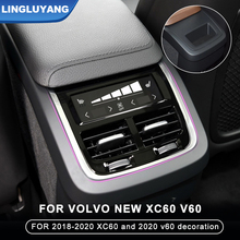 for volvo new s90 2015-2020 xc90 2018-2020 xc60 2020 s60 v60 rear exhaust vent decoration modification can not be powered