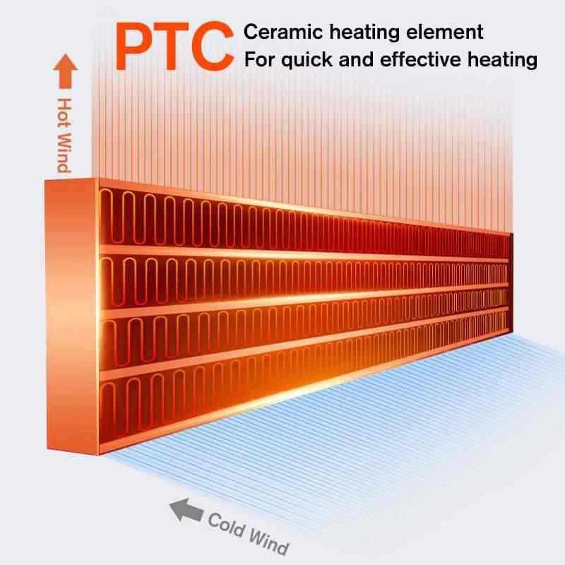 2000W mural télécommande chauffage maison économie d'énergie chauffage ventilateur salle de bains climatisation chauffage à Air chaud