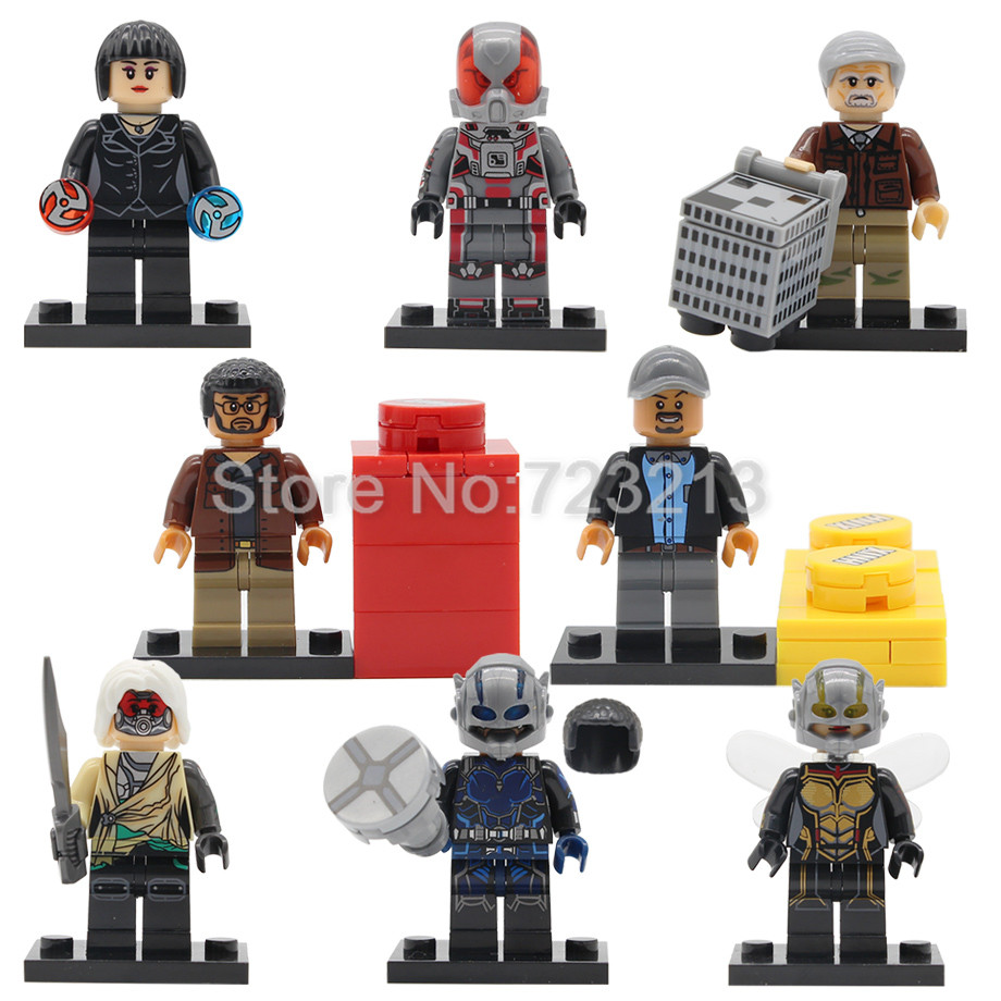 Super Hero Ant Man Figure Luis Wasp Hank Pym Goliath Janet Van Dyne Bill Foster Antman Building Block Bricks Kits Toys Legoing