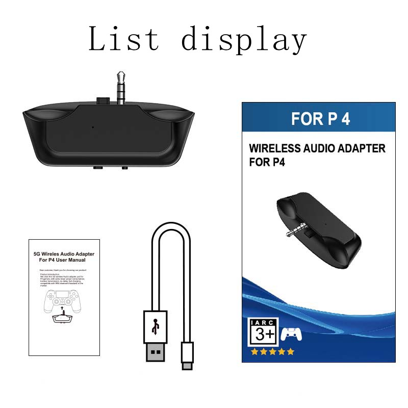 Mini Wireless Bluetooth V5 Audio Adapter Headphone Headset Earphone 3 5mm Receiver For PS4 Controller gamepad receiver