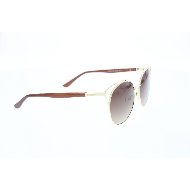 Women's sunglasses gu 7574 32f metal gold organic oval aval 54-17-140 guess
