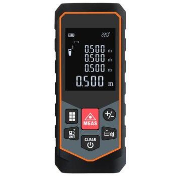 цена на Laser Distance Meter electronic roulette digital tape rangefinder trena metro laser range finder measuring tape