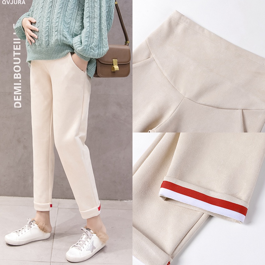 1778.0¥ 35% OFF Pregnant women pants spring and autumn fashion sports stomach lift pants loose preg...