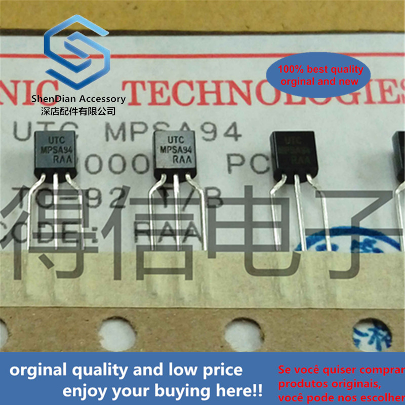 30pcs 100% Orginal New MPSA94 A94 TO-92 PNP Silicon High Voltage Transistor 625mW Real Photo