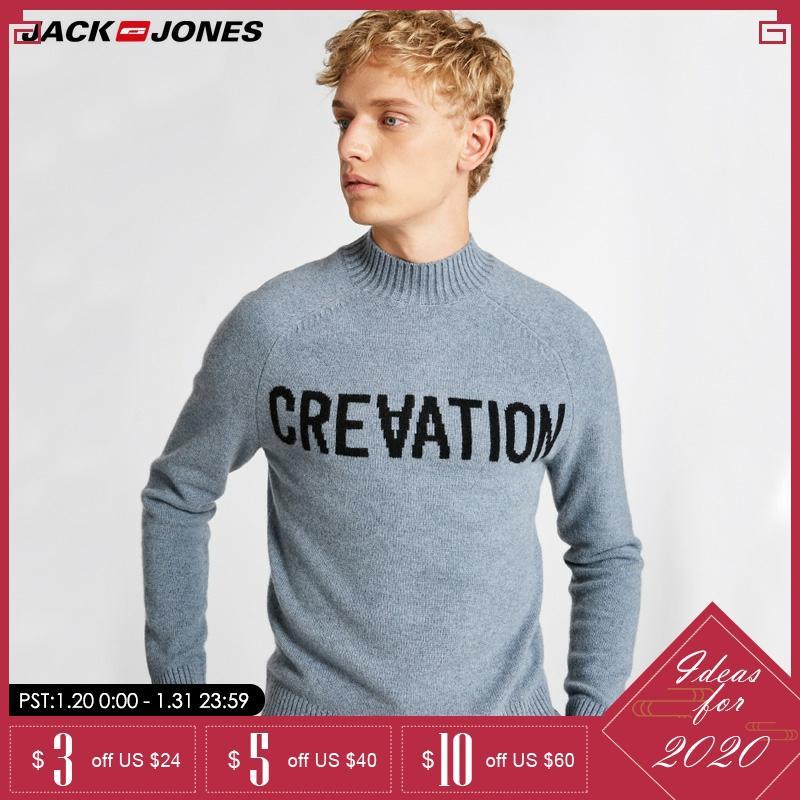 JackJones Mens Weaving Casual Letter Printed Knitting Sweater    218324558