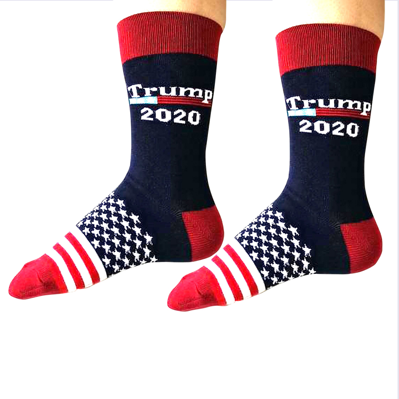 Creative Donald Trump Make America Great Again National Flag Stars Stripes Socks Funny Women Casual Men Short Happy Cotton Socks