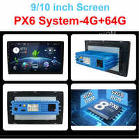 """4G 64G Android 9.0 Universal 1 din auto Multimedia Player auto radio 2din Stereo 10 """"auto Player Auto radio HDMI PX6 System"""