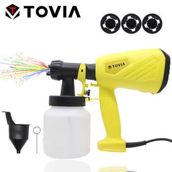 TOVIA 550W Spray Gun 800ML HVLP Electric Paint Sprayer 230V Flow Control Electric Spray Gun - DISCOUNT ITEM  36 OFF Tools