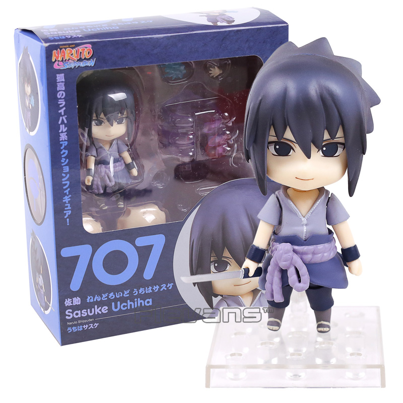 Naruto shippuden uchiha sasuke 707 boneca pvc figura de ação collectible modelo brinquedo