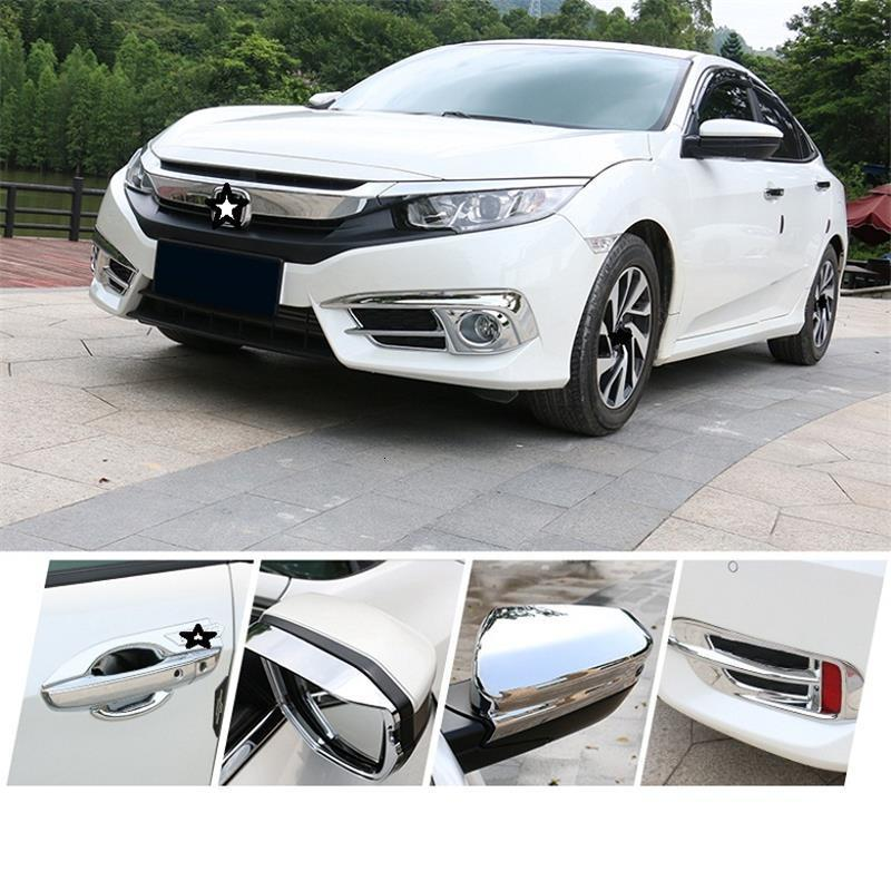 Image 5 - Car Styling Chromium Window Door Mirror Covers Rear Lamp Exterior Decoration Auto Accessories 2017 16 17 18 19 FOR Honda Civic-in Chromium Styling from Automobiles & Motorcycles