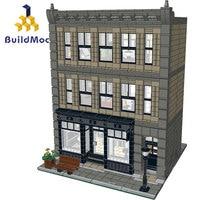 Architecture Building Blocks Creator Technic City Street European Houses Black Swan Office Building Designer Bricks for Kids