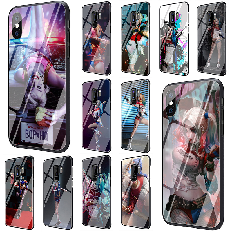 Super Harley quinn Birds Of Prey Tempered Glass Phone Case for Samsung S7 edge S8 9 <font><b>10</b></font> Note 8 9 <font><b>10</b></font> plus A10 20 30 40 <font><b>50</b></font> 60 70 image