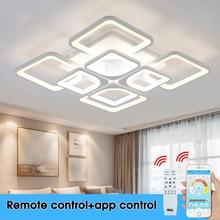 Plafonnier LED au design moderne, éclairage d'intérieur, luminosité réglable, luminaire décoratif de plafond, idéal pour un salon, une chambre à coucher ou une cuisine