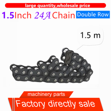 1PC 1.5Inch 24A Double Row, sturdy and durable Industrial Chain Drive Chain steel short pitch roller chain