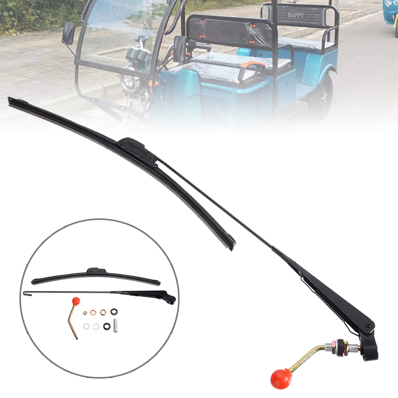 For Honda 1PC High Quality UTV Manual Windshield Wiper Kit Hand Operated ATV Electric Tricycles Wipers Treyues in Windscreen Wipers from Automobiles Motorcycles