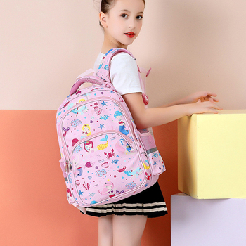 New Fashion Cartoon School Bags Backpack for Girls Boys Mermaid Design Children Orthopedic Backpack Mochila Infantil Grade 1--4 2