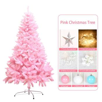 New Cherry Blossom Pink Christmas Tree Deluxe Encrypted Christmas Tree Decoration For Christmas Gift 1.2m With 7pcs Accessories