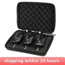 3 pièces/ensemble bleu LED sans fil pêche morsure alarmes pour canne à pêche résistant à leau réglable ton sensibilité sonore pêche alerte
