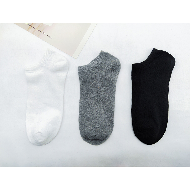 5 Pairs Men's Socks Breathable Sports Socks Solid Color Boat Socks Comfort Streetwear Ankle Socks Men White Black Calcetines