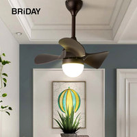 23 Inch Fan lamp Ceiling fans lights Light Children Room Modern LED DC ventilator lamp remote control ceeling
