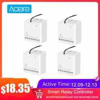 Aqara Module bidirectionnel minuterie de réglage intelligent Zigbee sans fil 2 canaux contrôleur de relais appareil Multiple fonctionne pour MI Home Homekit