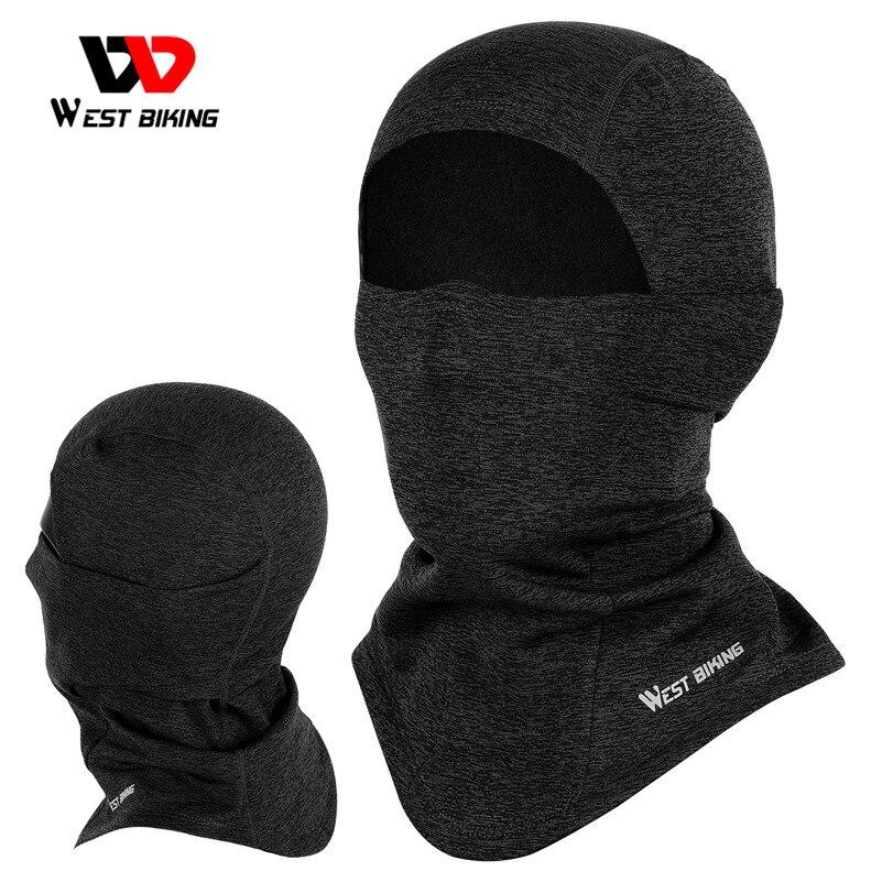 WEST BIKING-Gorro para ciclismo para adultos, accesorio para la cabeza de lana, máscara completa para la cara y el cuello, bufanda para esquiar, para invierno