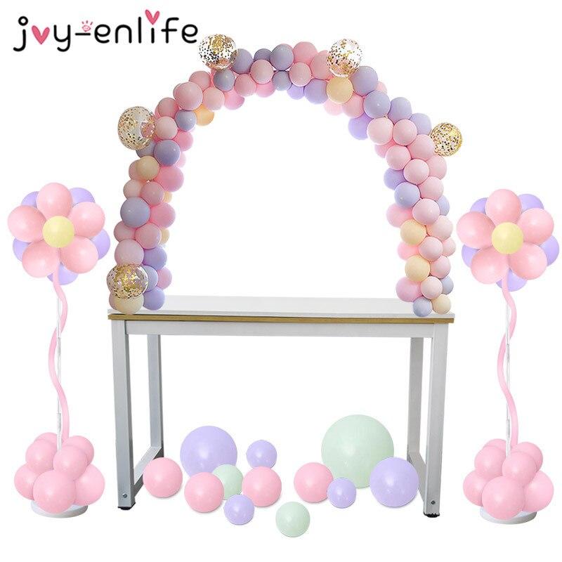 Adjustable Tabletop Balloon Arch Kits DIY Birthday Party Wedding Decoration Balloons Column Stand Ballon Chain Supplies(China)
