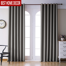 Modern blackout curtains for living room bedroom window drapes grey finished 1 panel blinds