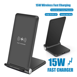 Image 5 - 15W Fast Wireless Charger Pad Foldable 10W Qi Charging Stand for iPhone 11 Pro Max XS XR X 8 Samsung S10 S9 S8 Plus Note 10 9