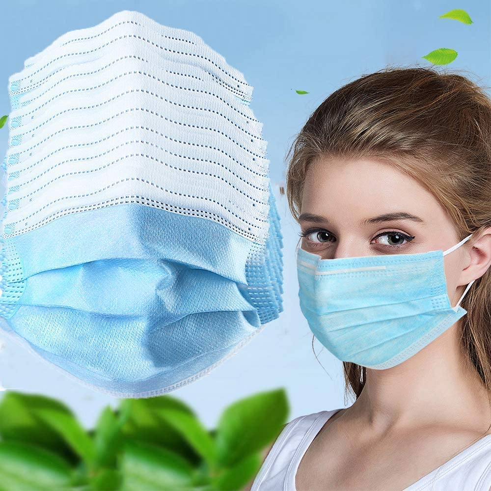 100pcs Fast Delivery! In Stock! High Quality Protective Face Mouth Mask Earloop Disposable Face Masks Anti-Dust Nonwoven