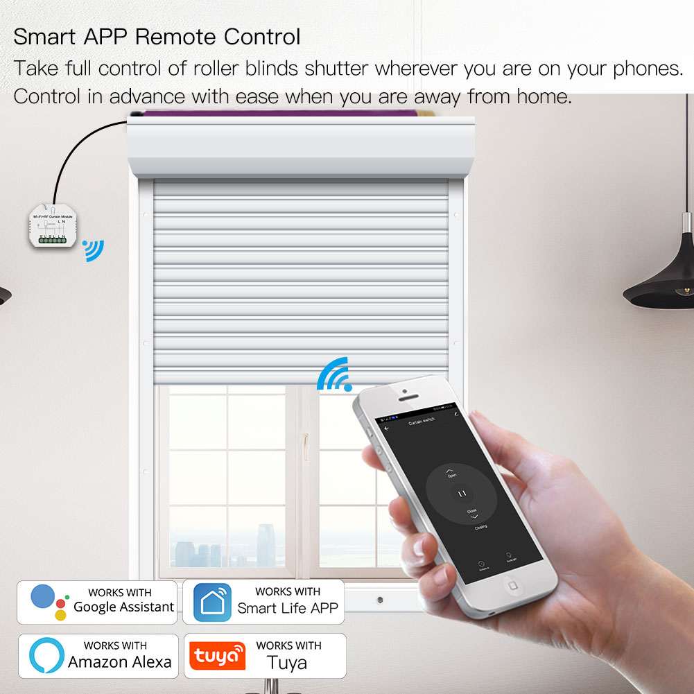 WiFi RF Smart Curtain Blinds Module Switch Roller Shutter Motor Tuya Wireless Remote Control Work with Alexa Google Home 5