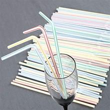 900PC słomki plastikowe 8 cali długości i wielu kolorowy w paski Bedable jednorazowe słomki Party wielobarwne Rainbow słomy tanie tanio CN (pochodzenie) Z tworzywa sztucznego Dropshipping and Wholesale Straws