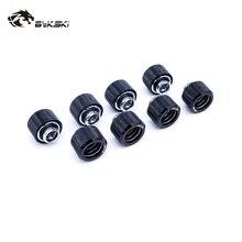 8 sztuk/partia twarde armatura rurowa OD12mm/OD14mm/OD16mm ręcznie złączka zaciskowa G1/4 4 warstwy pierścień uszczelniający używać do PMMA/PETG sztywność rury