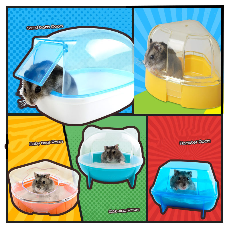 11Style Hot Hamster Cage Bathroom Sauna Bathtub Small Pet Hamster Accessories Can Effectively Prevent The Bath Sawdust Fly Out