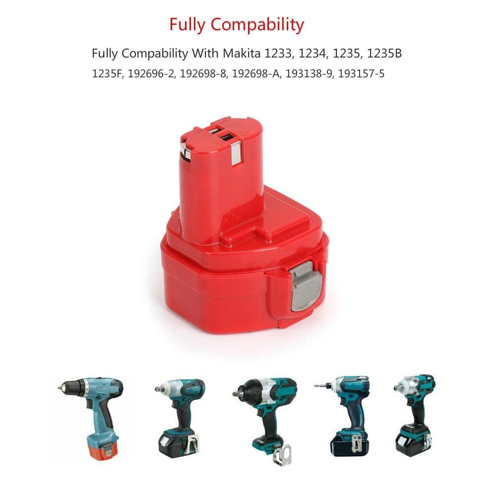 2 uds Makita 12V 3.0Ah NiMh batería de repuesto para 1220 1222 1234 1235 192598-2 PA12 12 voltios NiCd batería de herramientas eléctricas inalámbricas - 4